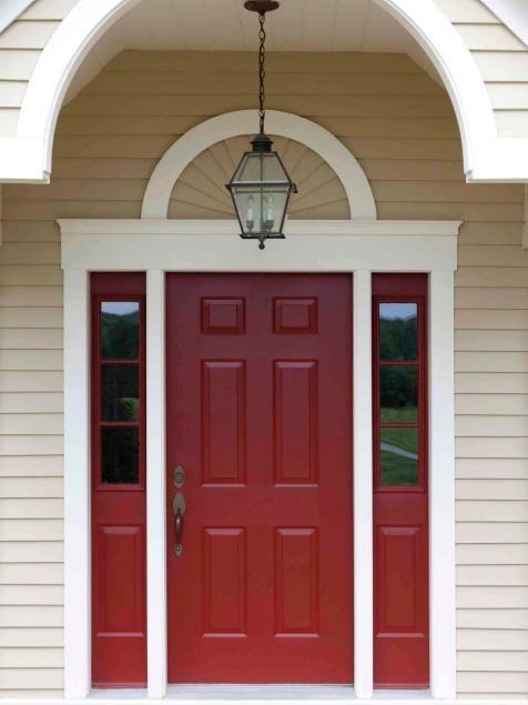 Popular colors to paint an entry door   Installing & Decorating Windows & Doors   DIY  Behr's Morocco Red