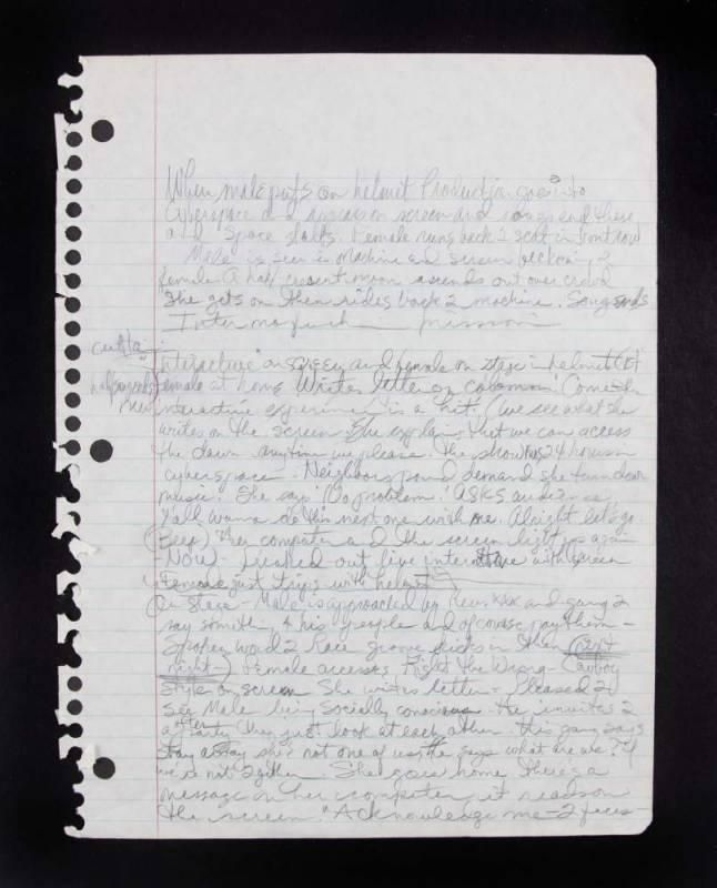 Prince's handwritten lyrics and notes Most of these are from the Purple Rain era — collected from an auction website. Filed under: notebooks