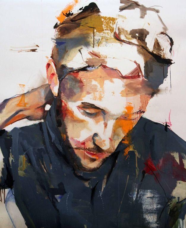 "Saatchi Online Artist: Lou ROS; Oil, 2012, Painting ""DLR"""