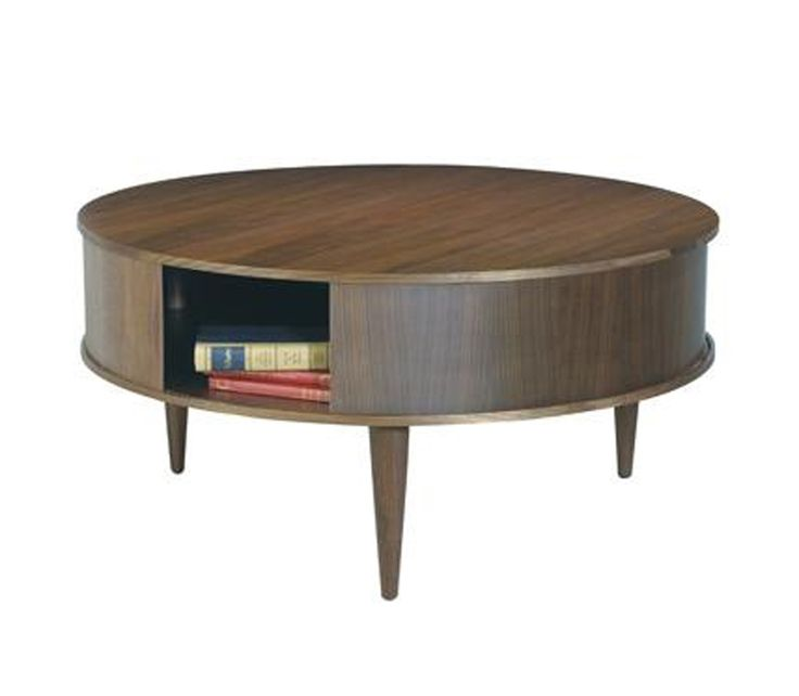 Coffee Table Round Wooden, Small Round Side Table With Drawer