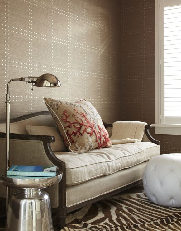 Rivet wallpaper by Phillip Jeffries interior design