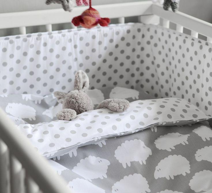 farg & form bedlinen - nubie - sheep bedlinen - grey cot bedlinen - cot bedlinen - scandi cot bedlinen - nursery decor - scandi nursery - go to your room!