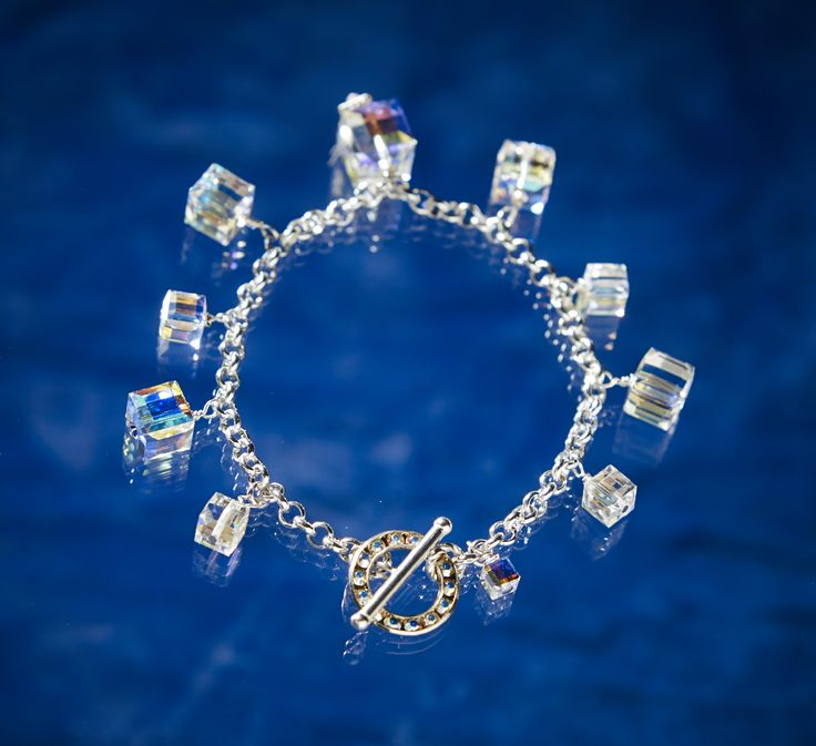 Diva Charm Bracelet from Arctic Ice Jewels, Northern Lights Collection. Talk about shine. Don't wait CLICK the link or picture to view the collection. www.ArcticIceJewels.com