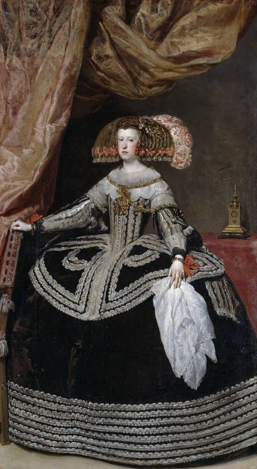 Diego Velázquez. Mariana de Austria, reina de España. 1652-1653. Madri, Museo Nacional del Prado