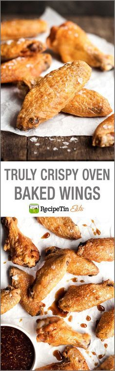 Truly Crispy Oven Baked Wings | These come out so crispy, it's hard to believe they aren't fried. So easy - a Cook's Illustrated technique.