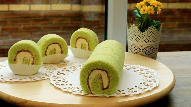 Josephine's Recipes: Homemade Pandan Swiss Roll Cake | Sponge Cake Reci...