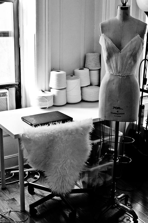 Fashion design studio - creative spaces; fashion designer's workspace