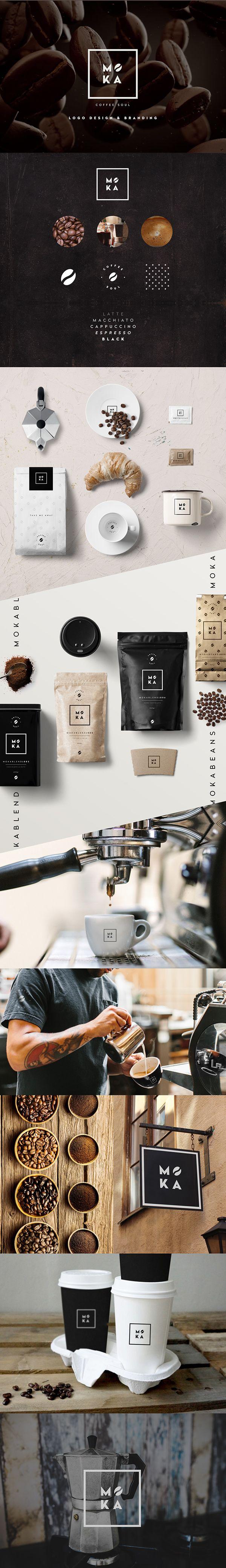 https://www.behance.net/gallery/35033345/Moka? #moka #coffee #coffeeshop #branding #logo #coffeelogo #coffeebean #coffeesoul #italiancoffee #pattern #design #graphicdesign