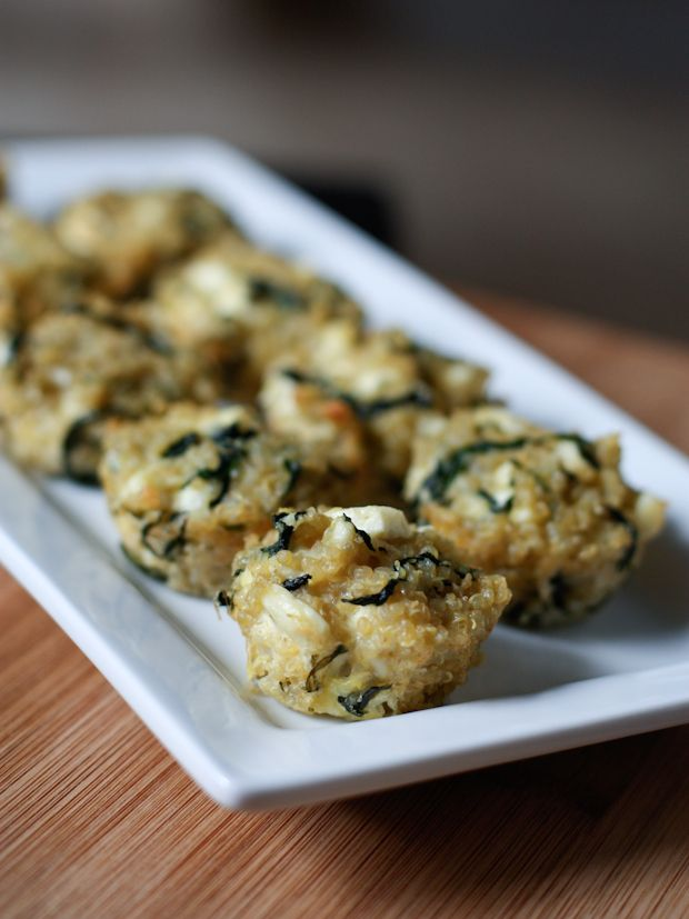 Spinach and Feta Quinoa Bites