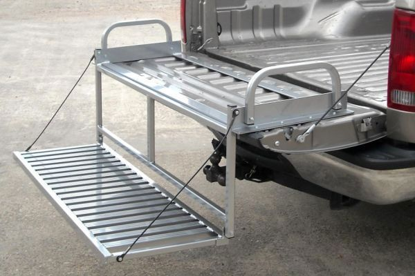 Something like this to take trash cans to street?        Home Truck Bed Accessories Tailgate