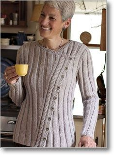 Buy - Classic Slant Cardigan Knitting Pattern