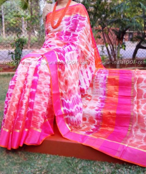 Elegant Kota Silk Saree with Ganga Jamuna  Border