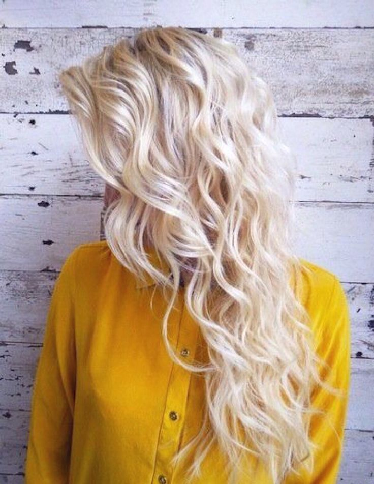 Beachy blonde curls. Making me wish for summer!                                                                                                                                                                                 More