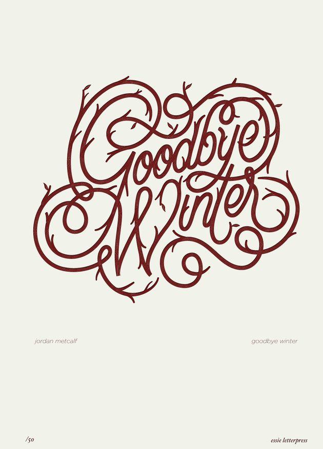 Goodbye Winter - essie letterpress