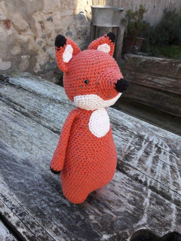 Háčkovaná líštička #crochet #littlefox #crochettoy