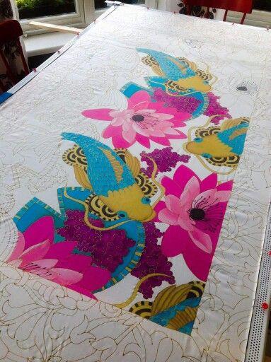 Silk painting idea.