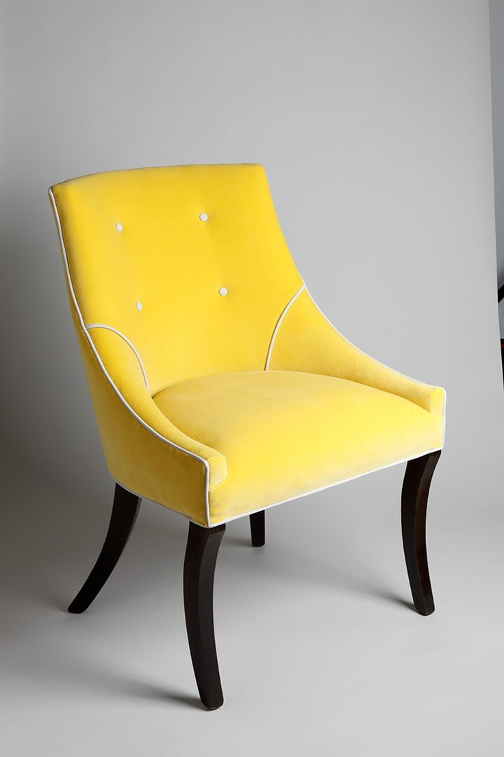 The Trafalgar - perfect for a dressing table chair, occasional chair or dining chair.  Summer yellow.
