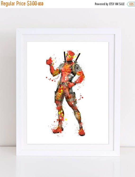 60%OFF deadpool watercolor watercolor marvel comics