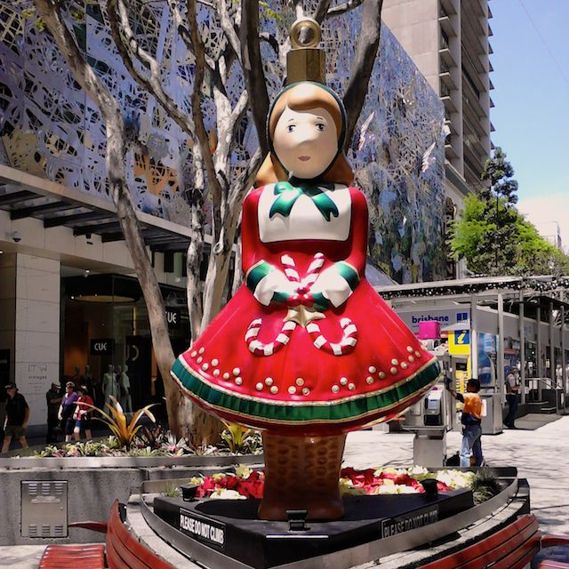 Another of the Queen Street Malls Christmas decorations