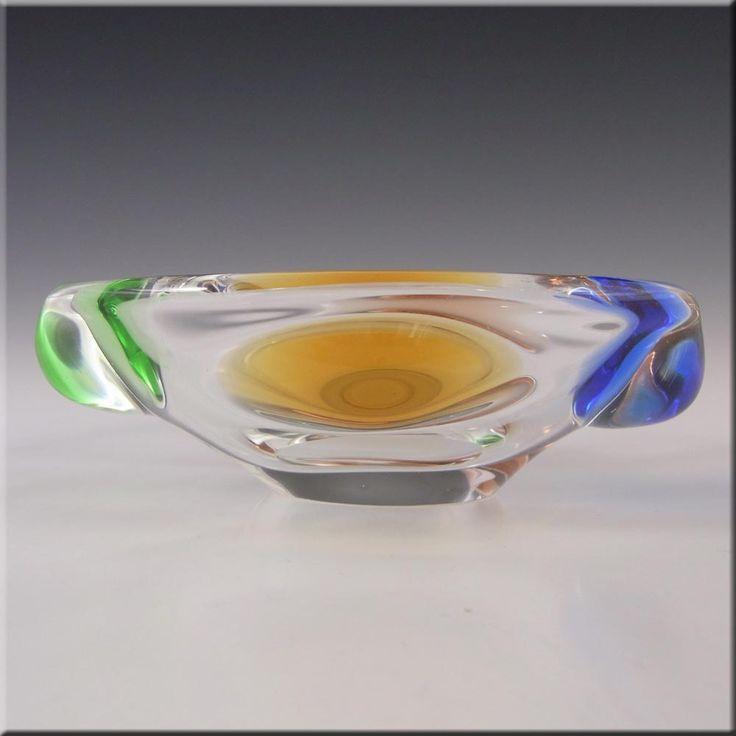Mstisov Czech Glass Rhapsody Bowl by Frantisek Zemek - £26.99