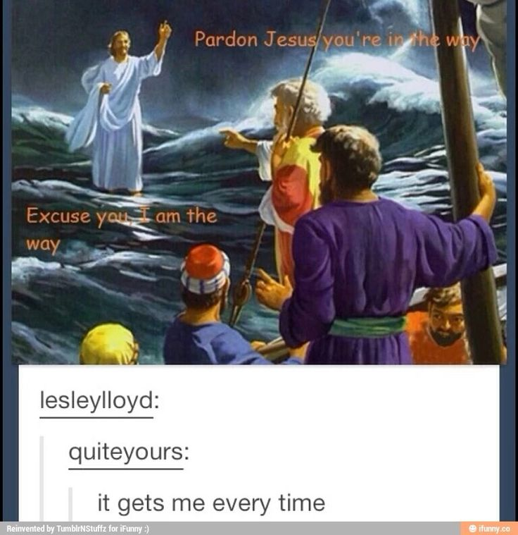 Oh snap, things just got spiritual. Thou tellest them, Sassy Jesus :D