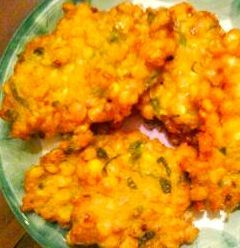 This recipe is amazing with fresh Jersey corn at the peak of the summer season. Indonesian Corn Fritters (Bakwan Jagung) via Flavorbliss.com