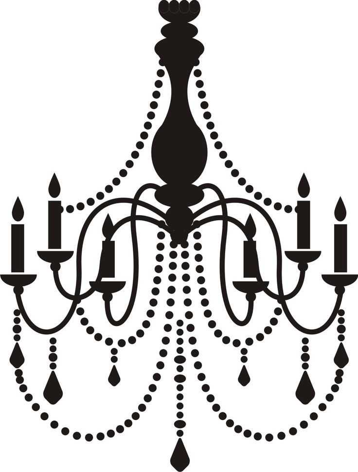 Wall Decal Art Vinyl Sticker Home Decor Chandelier