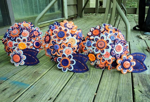 Button Flower Bouquets