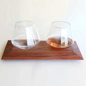 Cupa glasses and tray