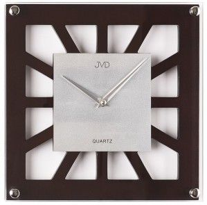 #Clock #JVD Drewniany zegar ścienny N127.23 - Jasněna Vláhová Design - ciemno brązowy