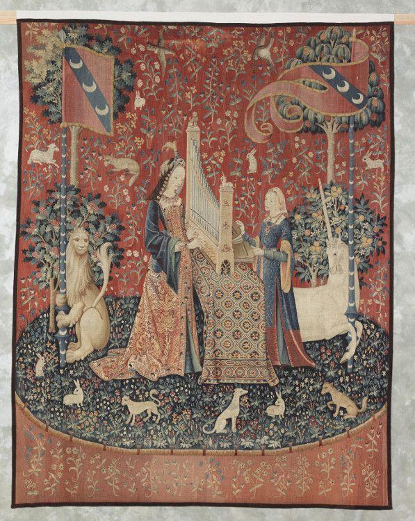 L'ouïe, La Dame à la Licorne, tapisserie, 4e quart du XVe siècle, Paris, Musée de Cluny