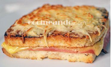 Receta de croque monseiur (sándwich francés) - Cocineando