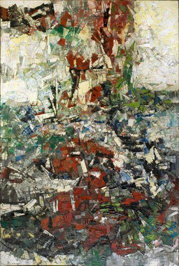 Jean-Paul Riopelle, Montréal 1923 - L'Isle-aux-Grues (Québec) 2002, Gravité, 1956, huile sur toile.