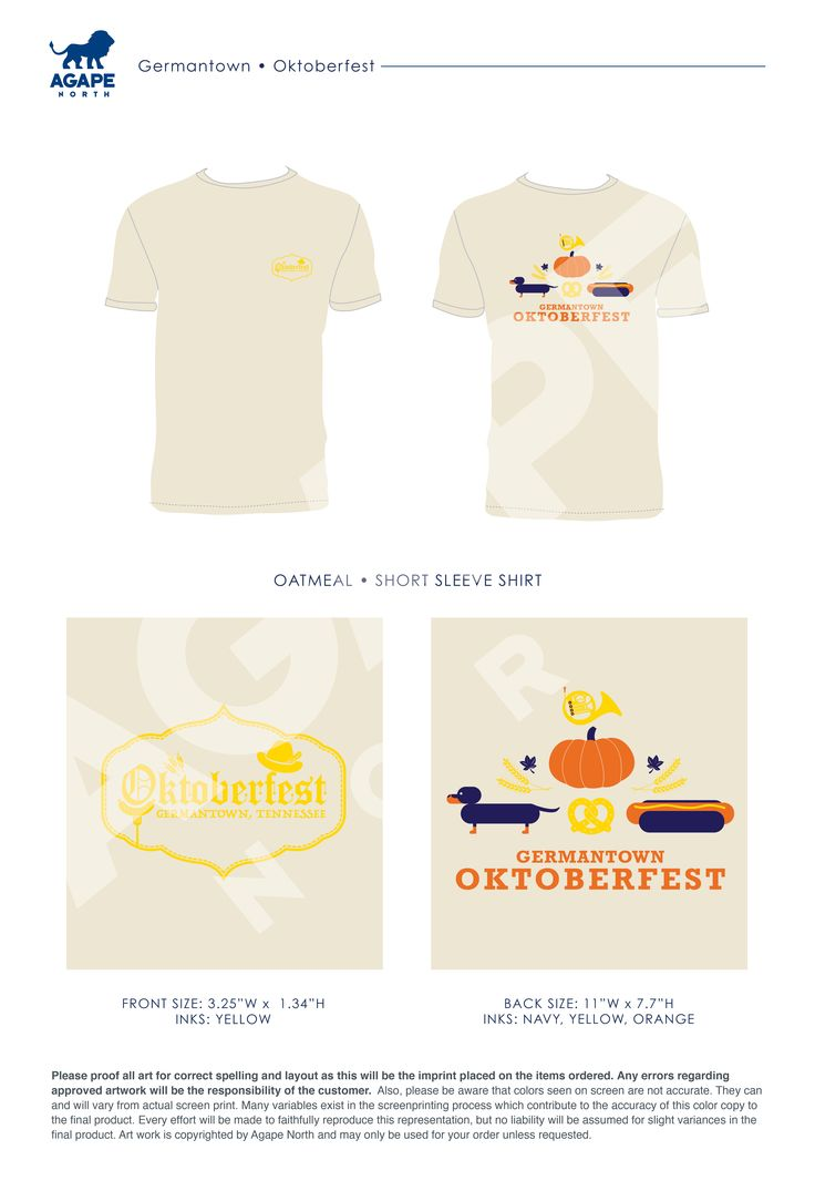 Agape North: Custom Apparel that Gives Back. #oktoberfest #designs