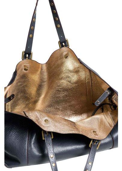Cabas Simple bag en cuir Gris by GERARD DAREL