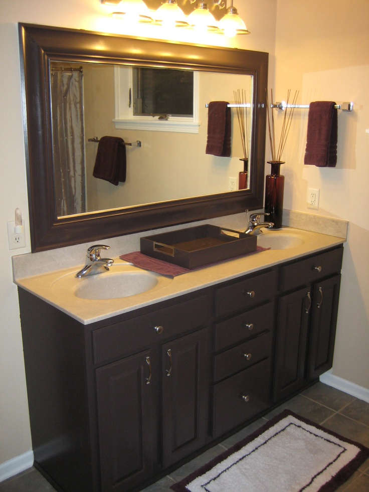 My Newly Remodeled Master Bath It Was All Oak I Used Benjamin Moore Aura Paint I Painted The
