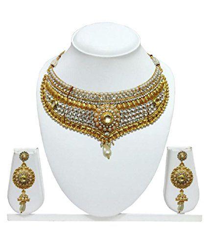 Dazzling Indian Bollywood White Stone Pearls Wedding & Pa... https://www.amazon.com/dp/B06WV9TWSF/ref=cm_sw_r_pi_dp_x_9GaRyb3J8M0V0