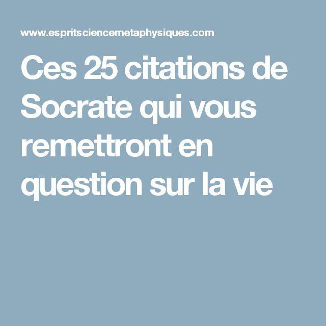 Ces 25 citations de Socrate qui vous remettront en question sur la vie