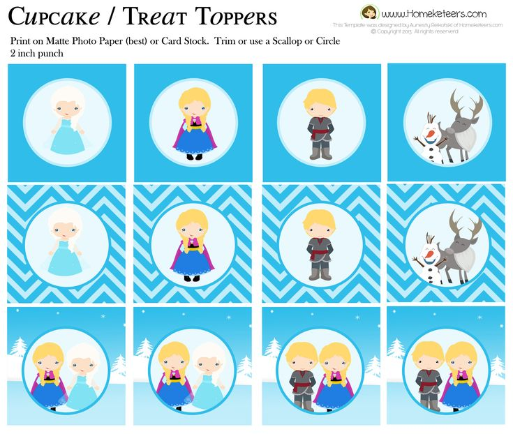 The 25 best Frozen cupcake toppers ideas on Pinterest Frozen
