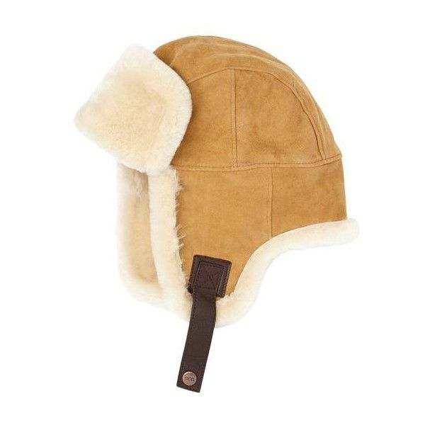 UGG Sheepskin Trapper ($205) ❤ liked on Polyvore featuring men's fashion, men's accessories, men's hats and men