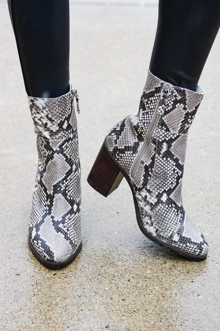 878f5152b72 Get these stylish Steve Madden Revolve Snakeskin Pointed Toe booties ...