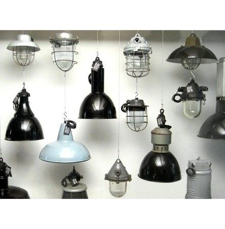 Industrial antique lamps