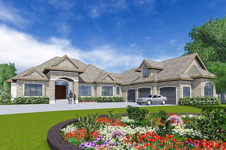 European Home Plan with In-Law Suite - 81648AB | Architectural Designs - House Plans