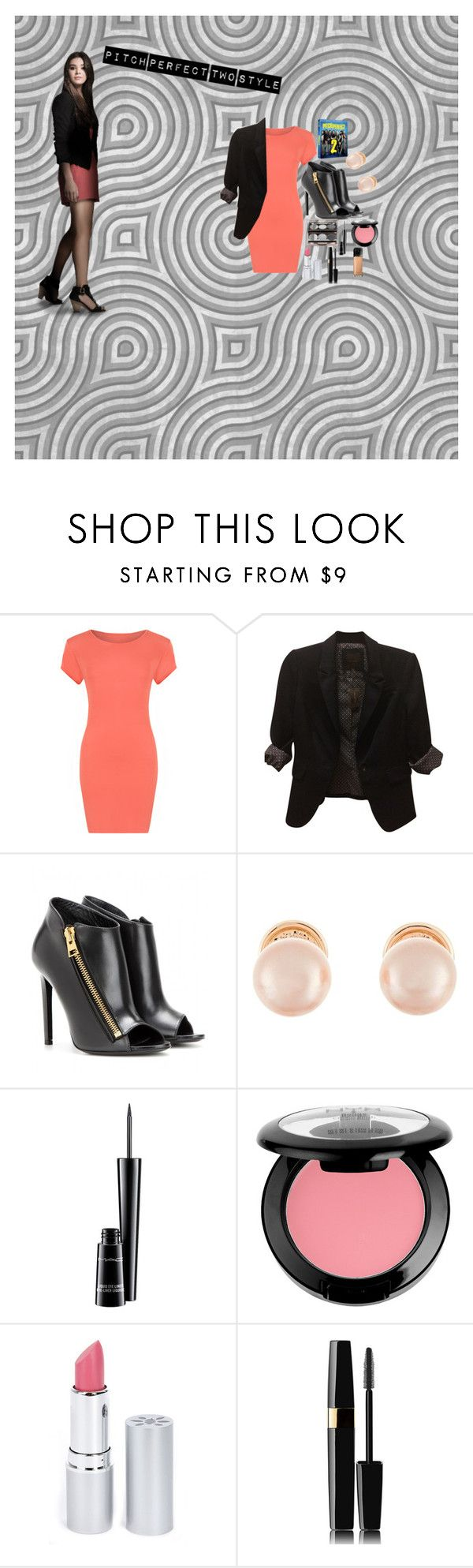 """""""pitch perfect two emily junk"""" by pandaprincess19 ❤ liked on Polyvore featuring moda, WearAll, The Limited, Tom Ford, Kenneth Jay Lane, MAC Cosmetics, NYX, HoneyBee Gardens, Maybelline i pitchperfect2"""