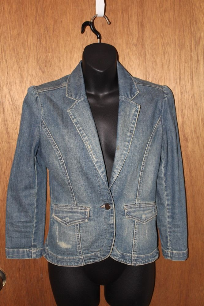 Calvin Klein Vintage 80's Denim Jacket Ladies Denim | eBay