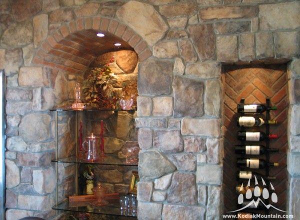 Stone Blend: Villa Stone, Shadow Ledge, Cut Fieldstone / Color: Apache manufactured stone by Kodiak Mountain Stone
