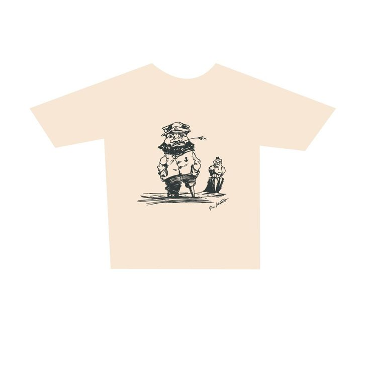 Adult Master Mariner T-Shirt, cream. Buy form Holvi webstore. #t-shirt #mariner #captain #sea #seagul #mastermariner
