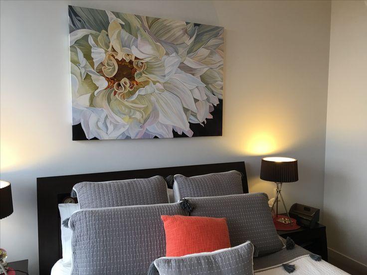 'Rhapsody' in its new home. Original 120 x 90cm.  Jennyfuscapaintings.com.au