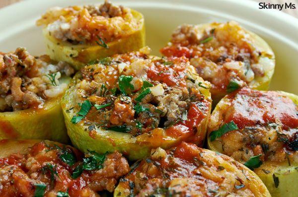 Southwestern Stuffed Zucchini - Skinny Ms.