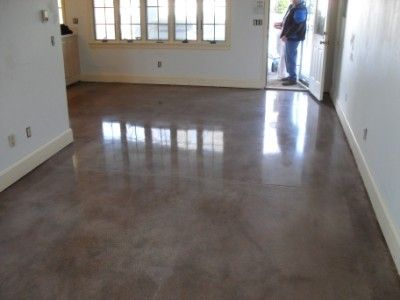 Concrete floors brawn beauty read attached article for for Stained polished concrete floor